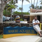 Here I am at the entrance to Waikiki Aquarium