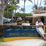 Here I am at the entrance to Waikiki Aquarium