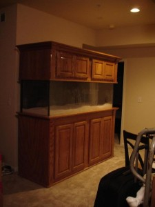 Aquarium with Solid Wood Stand and Canopy