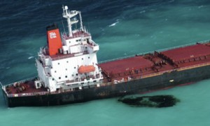 Oil Spill on Austrlia's Great Barrier Reef