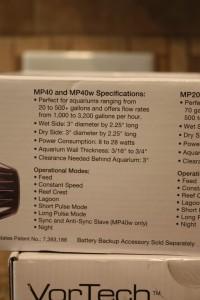 VorTech MP40w Ecosmart Specifications