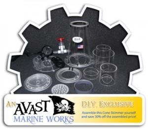 AVAST Marine Works DIY Protein Skimmer Disassembled