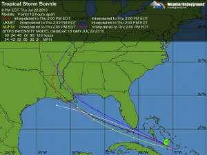 Hurricane Tracking from Weather Underground