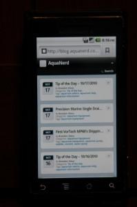 AquaNerd Mobile Site