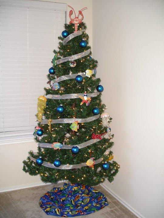 Saltwater Aquarium Themed Christmas Tree