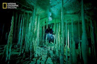 Blue Hole Stalagmites