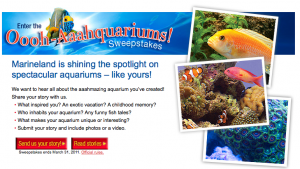 Marineland Oooh Aaahquarium Sweepstakes