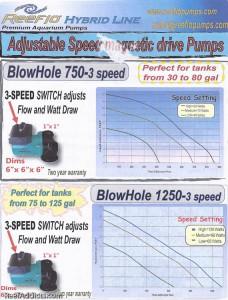 Reeflo Blowhole Chart