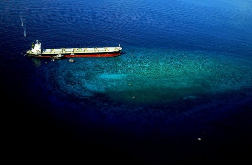 Coal Ship Runs Aground in Philipines