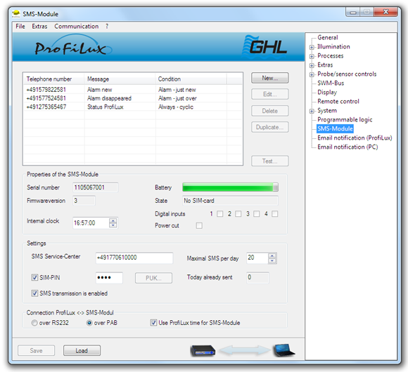 ProfiLux SMS Module Software