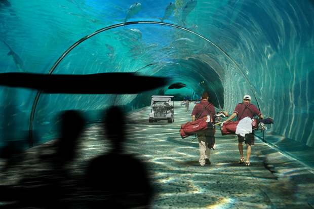 Maldives Golf Course Undersea Tunnel