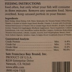 San Francisco Bay Frozen Fish Food