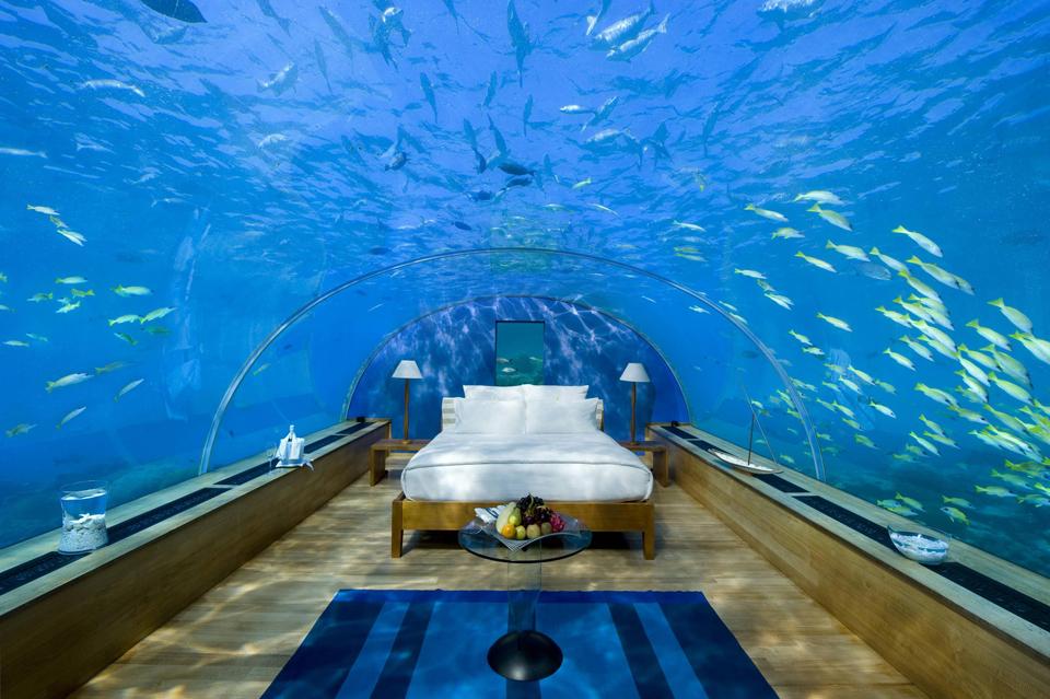 Underwater Suite at Maldives Hilton