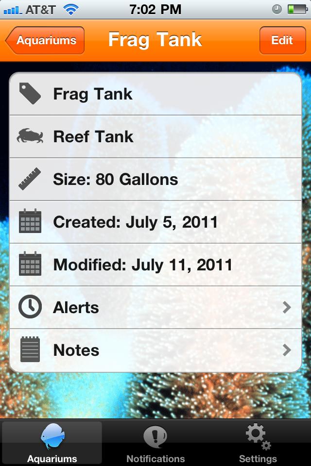 aquaPlanner Aquarium Reminder App