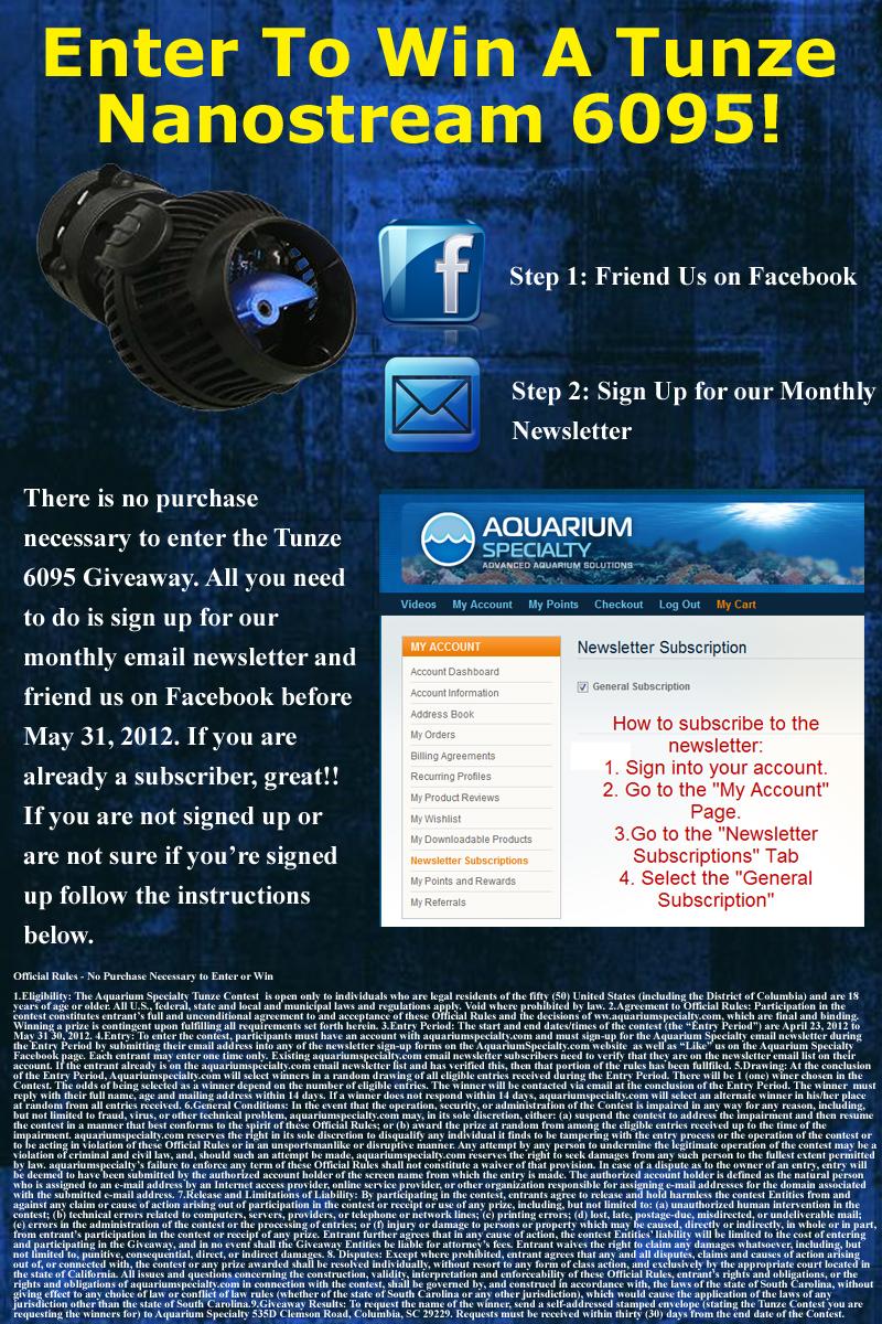 Aquarium Specialty Tunze Giveaway