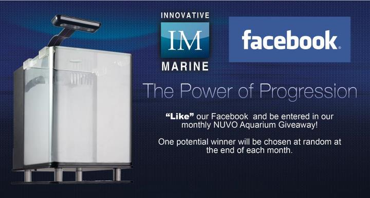 Innovative Marine Facebook NUVO Aquarium Giveaway