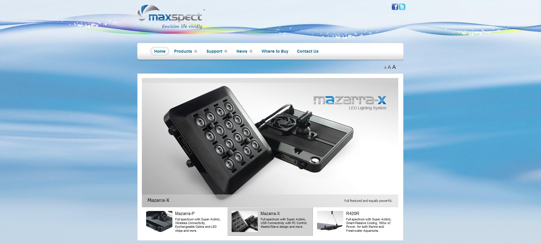 The New Maxspect USA Website
