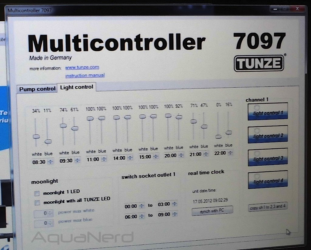 Tunze Multicontroller 7097 Software