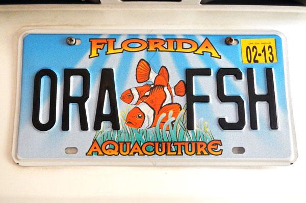 ORA Aquaculture License Plate