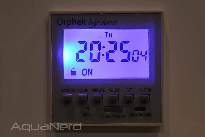 Orphek PR156W XP Timer Illuminated
