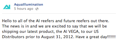 AquaIllumination Vega Announcement
