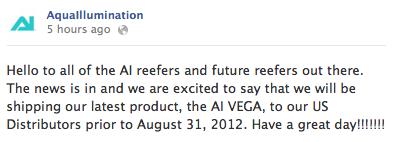 AquaIllumination Vega Announcement