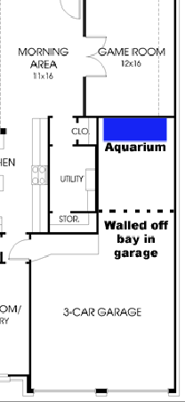Tandem Garage In-wall Aquarium