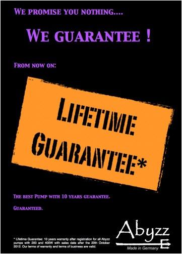 Abyzz Lifetime Guarantee