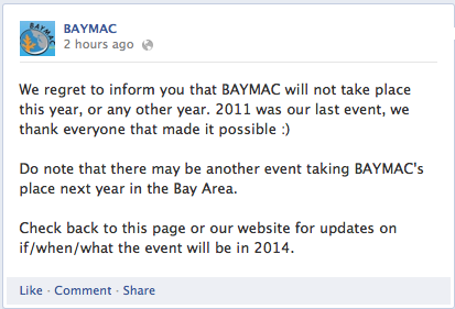 BAYMAC Facebook Announcement