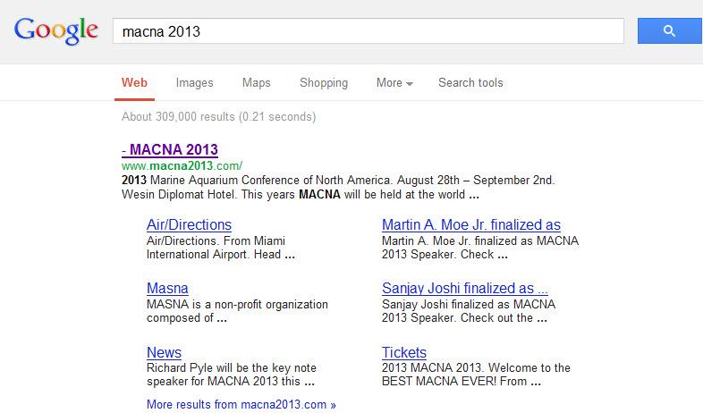 MACNA 2013 Google Search