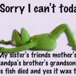 Kermit's Fish Died
