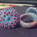 Mushroom Coral Plastic Ring