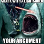 Batman Fighting Shark