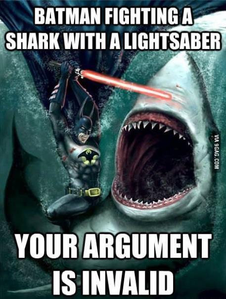 Batman Fighting Shark