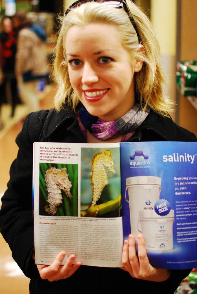 Felicia McCaulley with Magazine