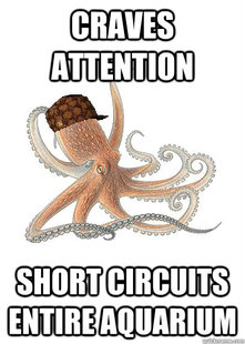 Octopus Short Circuits Aquarium