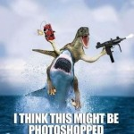 Shark and Raptor Photoshop