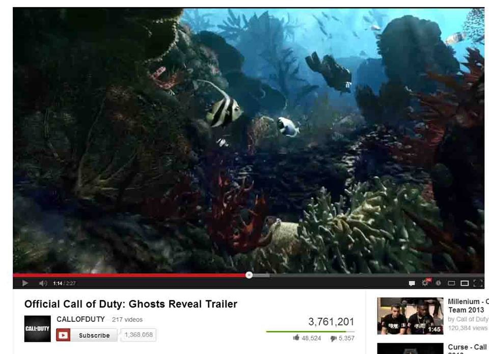Call of Duty Ghosts Reef Scene