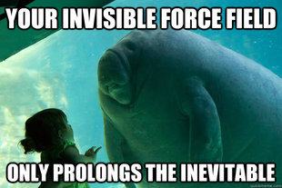 Manatee Invisible Force Field