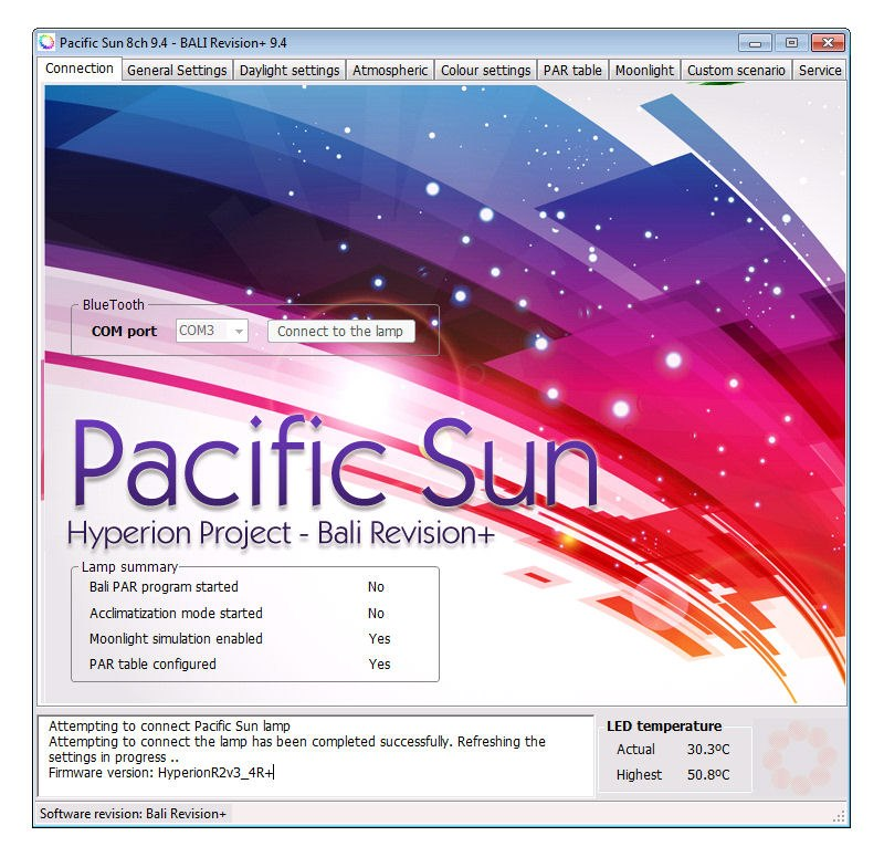 Pacific Sun Hyperion Project Software