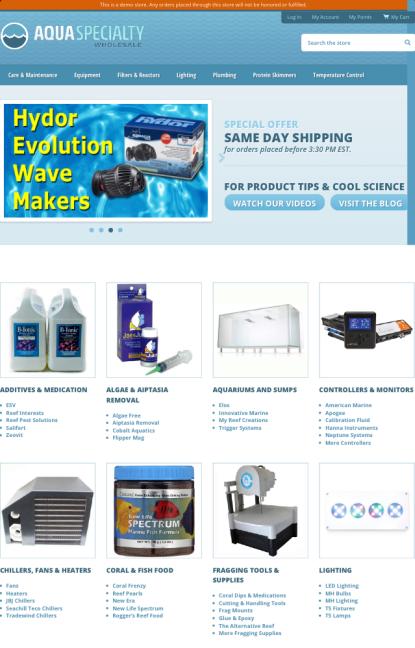 Aqua Specialty Website