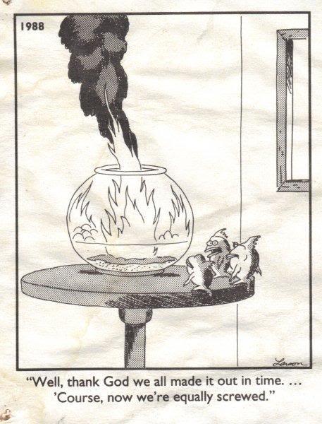 Gary Larson Aquarium Fire