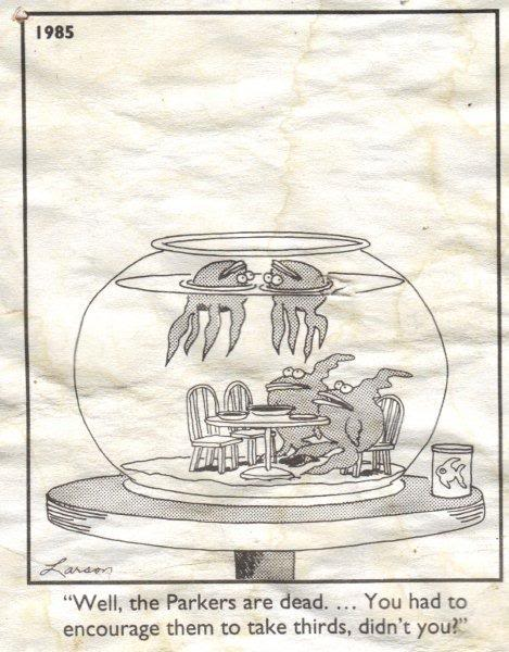 Gary Larson Fish Eat Too Much