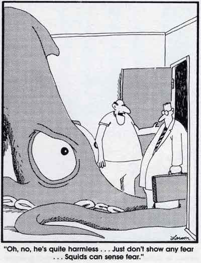 Gary Larson Squids Can Sense Fear