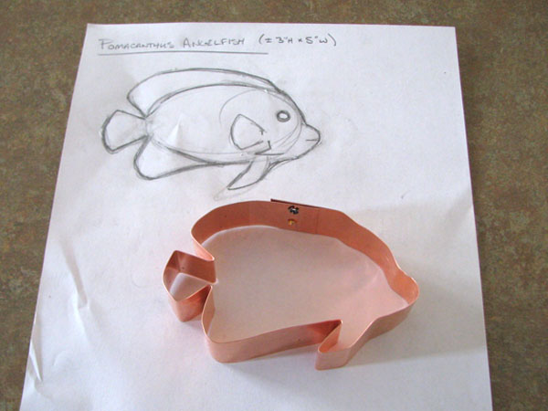 Pomacanthus Angelfish Cookie Cutter
