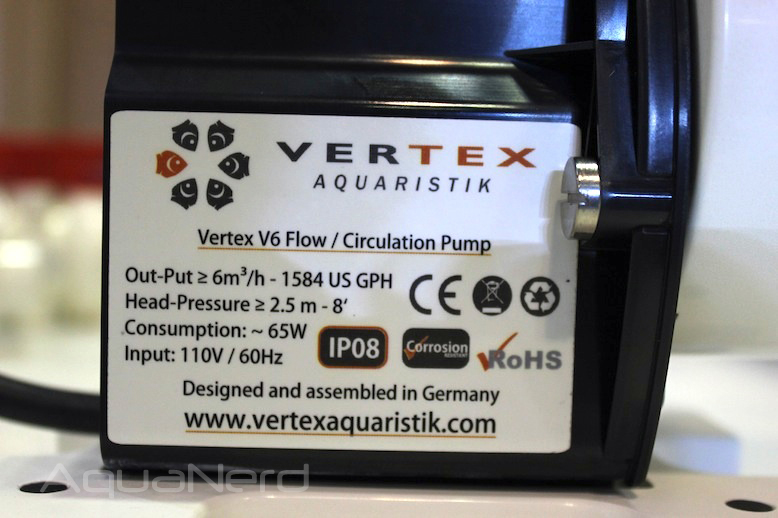 Vertex V6 Pump Specs