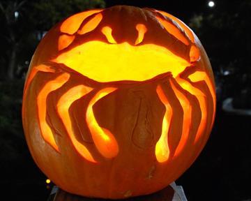 Crab Jack-o-lantern