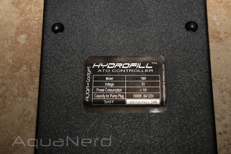 Innovative Marine HydroFill ATO Controller Specs