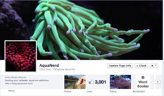 AquaNerd Facebook 3000 Likes