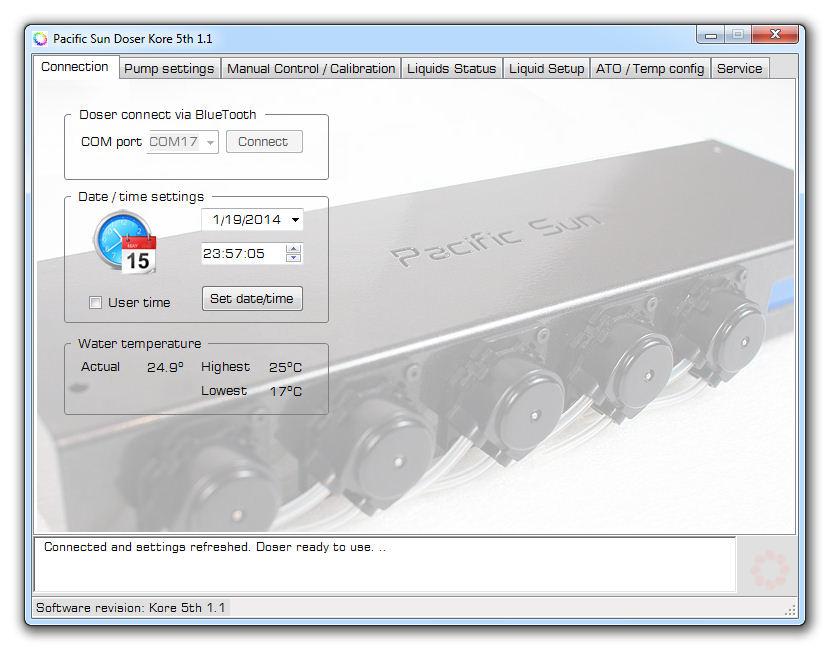Pacific Sun Doser Kore 5th Software